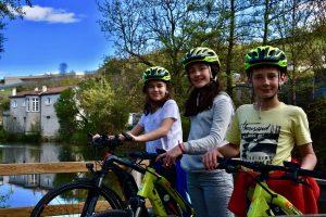 Voyager à vélo avec des enfants