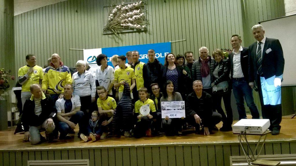 Les lauréats : Groupe cyclo de Coubon, le Comité de Jumelage de Coubon  et L'Autre Chemin