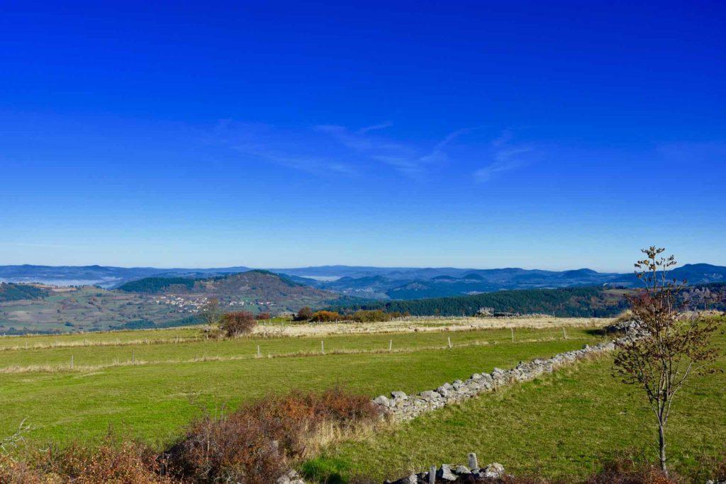 Paysage sur les hauteurs du Monastier-sur-Gazeille